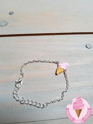 Bracelet glace rose pastel
