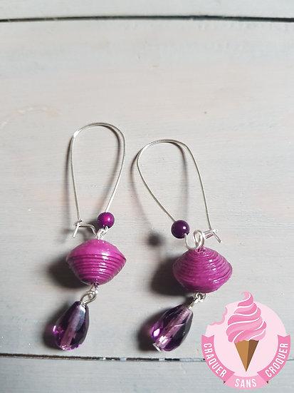 BO perles papier violette