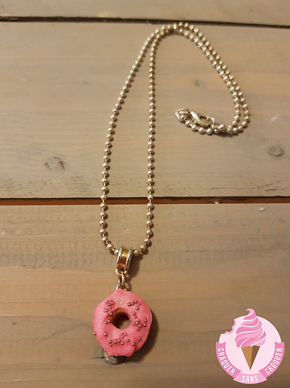 Collier donut's rose
