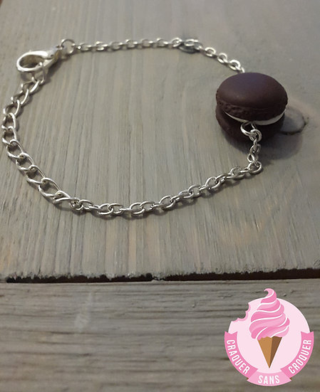 Bracelet macaron chocolat