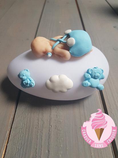 Veilleuse bébé garçon bleu pastel [N°2]
