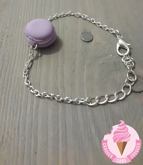 Bracelet macaron mauve