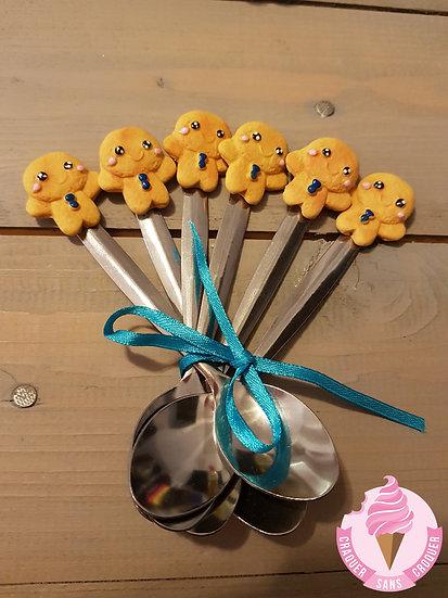 Une cuillère biscuit bonhomme