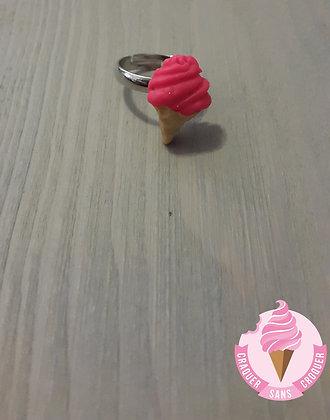 Bague glace rose fluo [Enfant]
