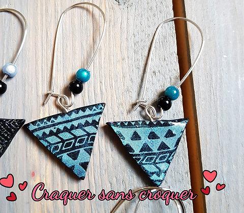 BO motif Aztèque turquoise