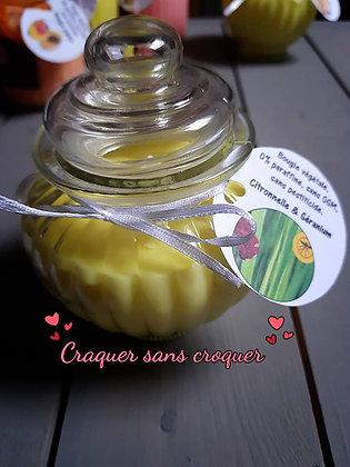Bougie Anti-moustique citronnelle géranium[40H]