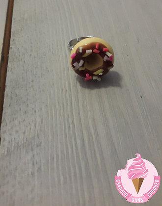 Bague donut's chocolat [Enfant]