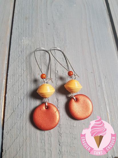 BO perles papier orange