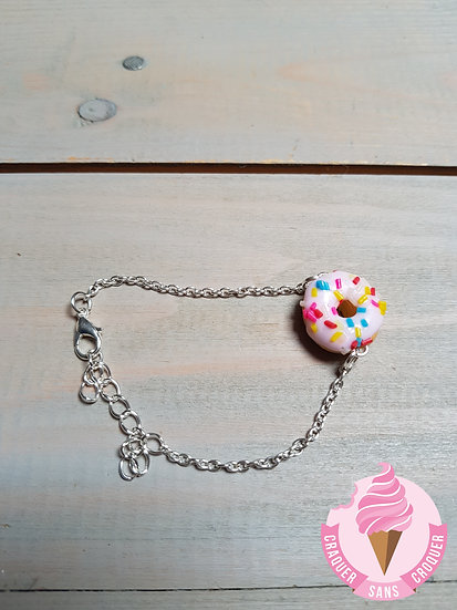 Bracelet donut's rose pastel