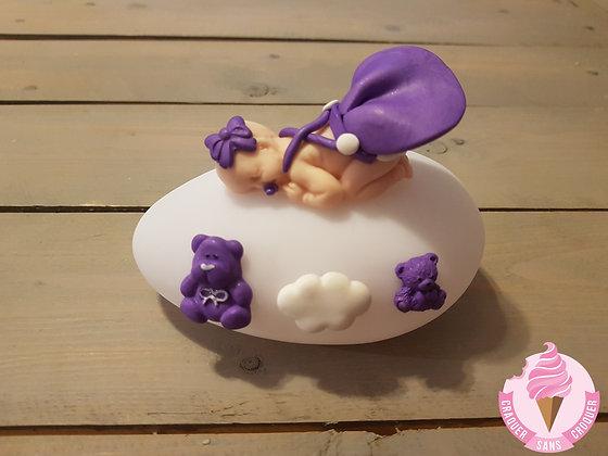 Veilleuse fille violet N.3