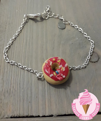 Bracelet donut's framboise