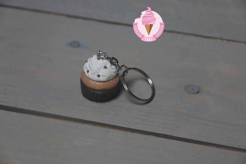 Porte clés cupcake chocolat