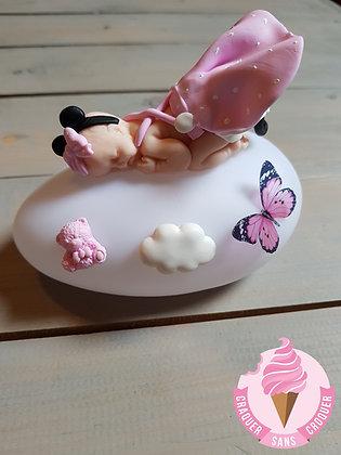 Veilleuse bébé minnie rose