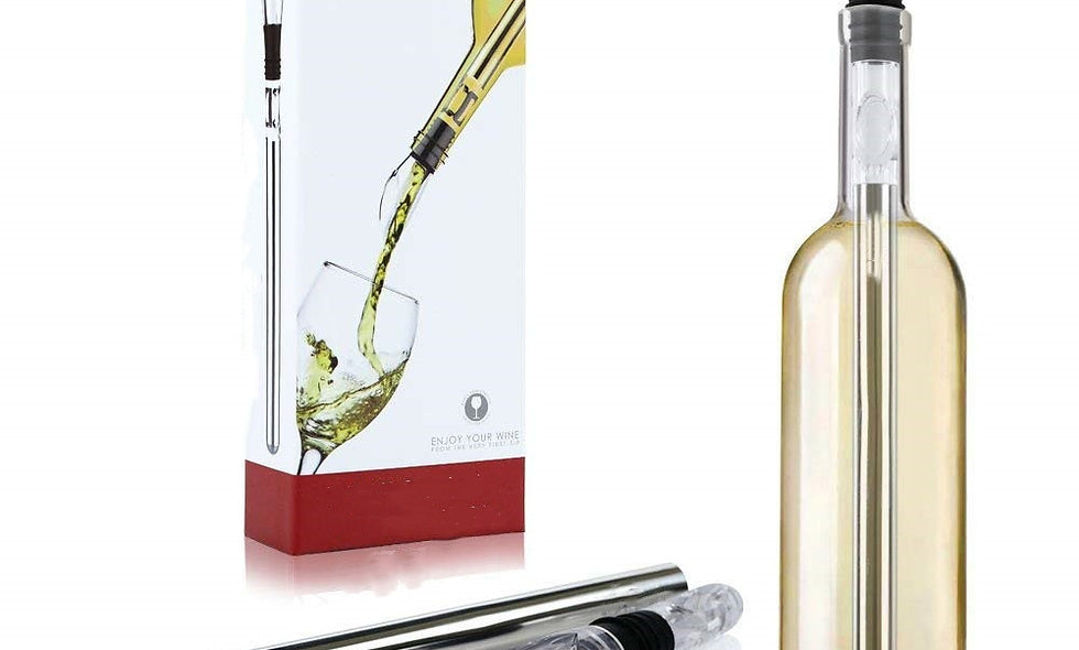 Stainless Wine Pourer With Wine Cooling Rod