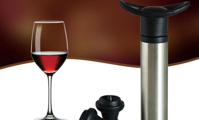 Wine Stopper With Vacuum Pump &  Fresh Saver Sealing