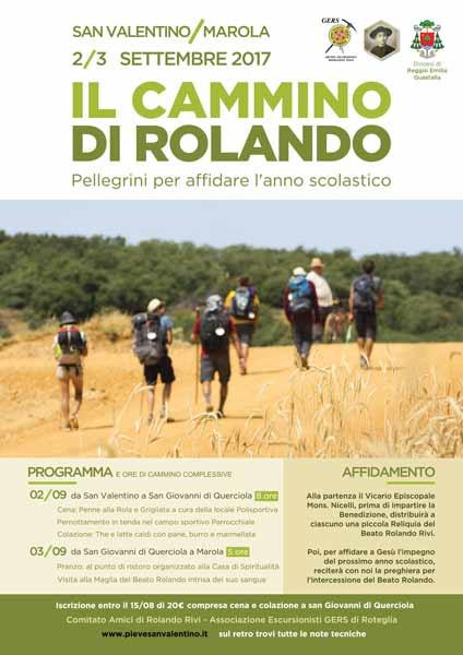 """Invito e avviso """"Il cammino di Rolando"""""""
