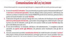 Importante! Nuovo comunicato corsi di formazione 2020-21