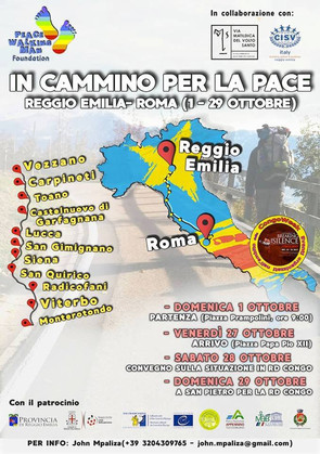 """IN CAMMINO PER LA PACE"""" (REGGIO EMILIA - ROMA: 1/29 OTTOBRE)"""