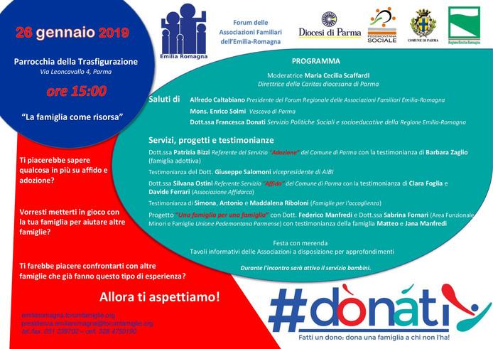 PROGETTO DONATI - PARMA 26 GENNAIO ORE 15 - PARROCCHIA DELLA TRASFIGURAZIONE (via Leoncavallo)