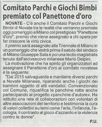 Premio Panettone d'Oro - Articolo su Il