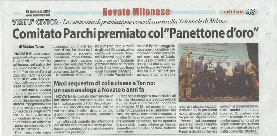 Premio Panettone d'Oro - Articolo e foto