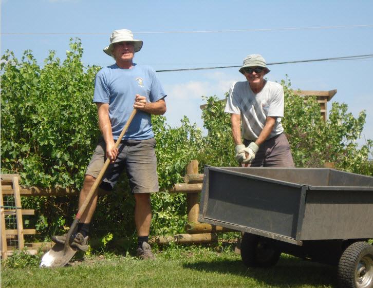 duncan and tom volunteering