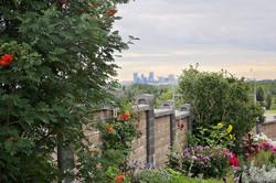 Wall Garden and Calgary skyline