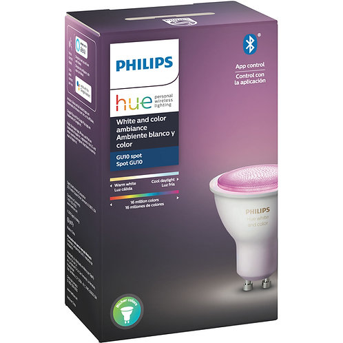 Philips Hue White & Colour GU10 Bulb Bluetooth
