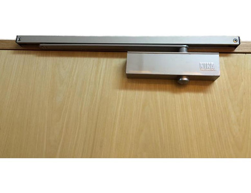 NIKA 983 Door Closer with Slide Arm (Silver)