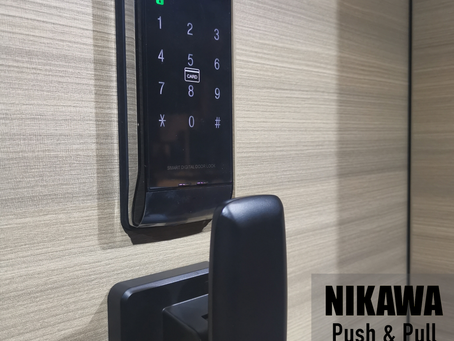 Schlage Digital Lock & NIKAWA Push Pull