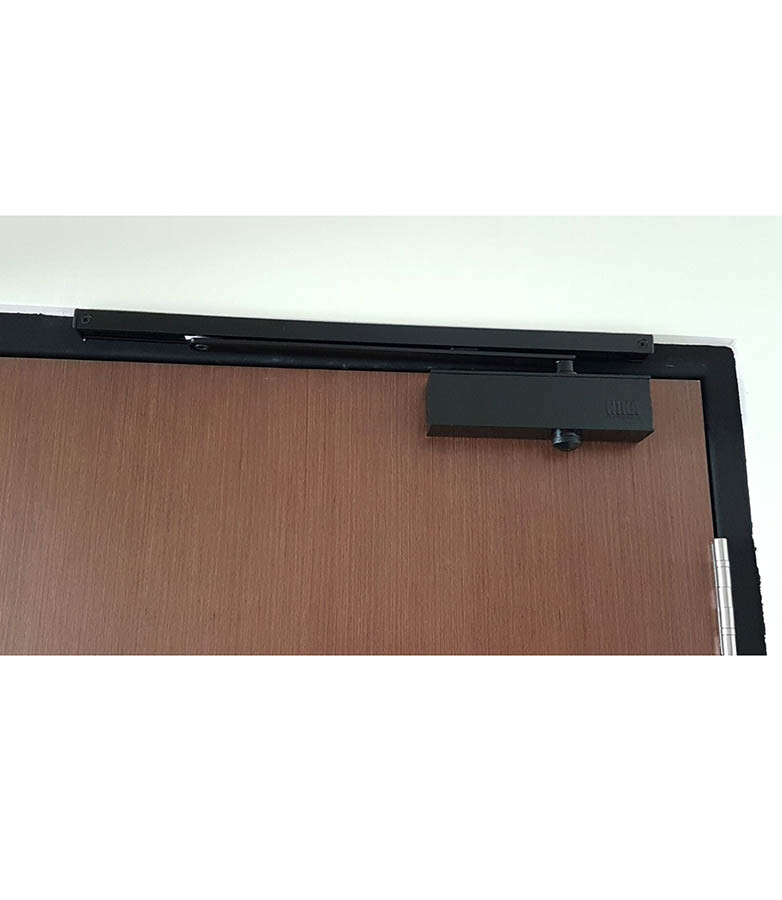 NIKA 983 Door Closer with Slide Arm (Black)