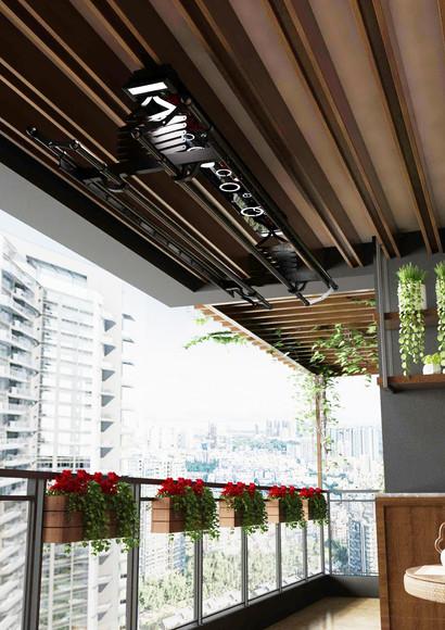 Install at Balcony Area