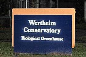 Wertheim Conservatory Sign