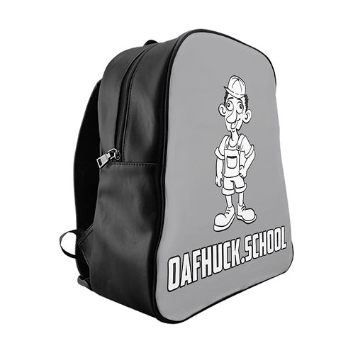 A Remarkable OafHuck.school Backpack in Day at the Bay Gray