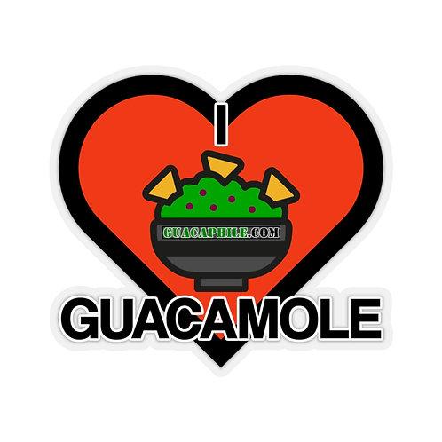 Guacaphile.com I ❤ GUACAMOLE Kiss-Cut Sticker