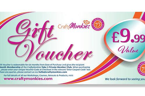 £9.99 Gift Voucher (or Take 3 Taster)