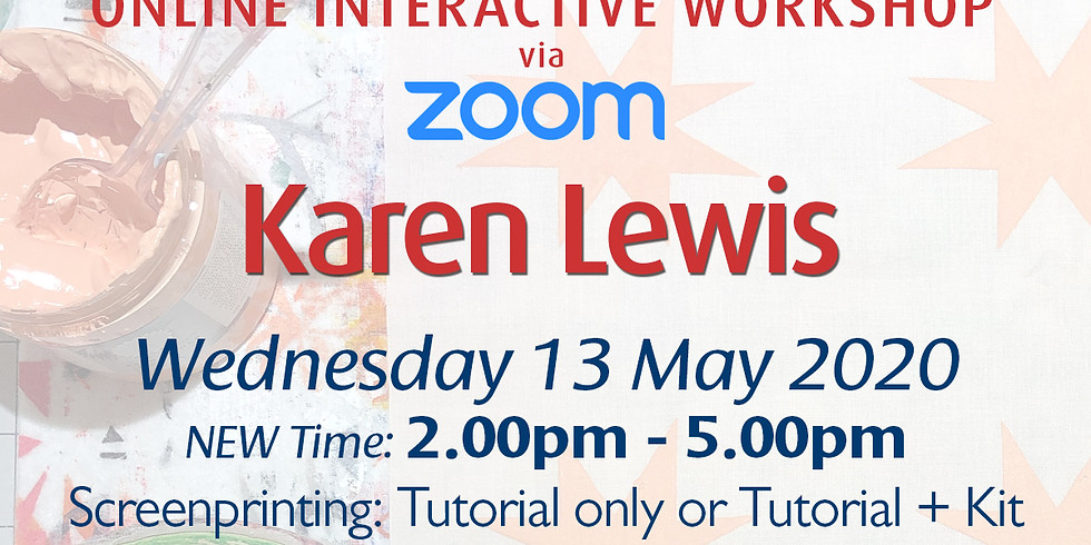 Wednesday 13 May 2020: Online Workshop (Screenprinting)