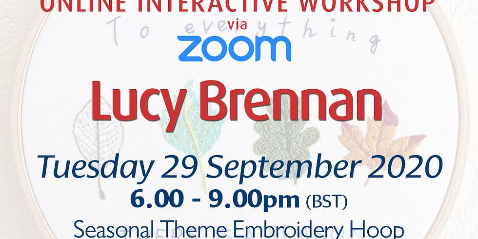 Tuesday 29 September 2020: Online Workshop (Seasonal Embroidery Hoop)
