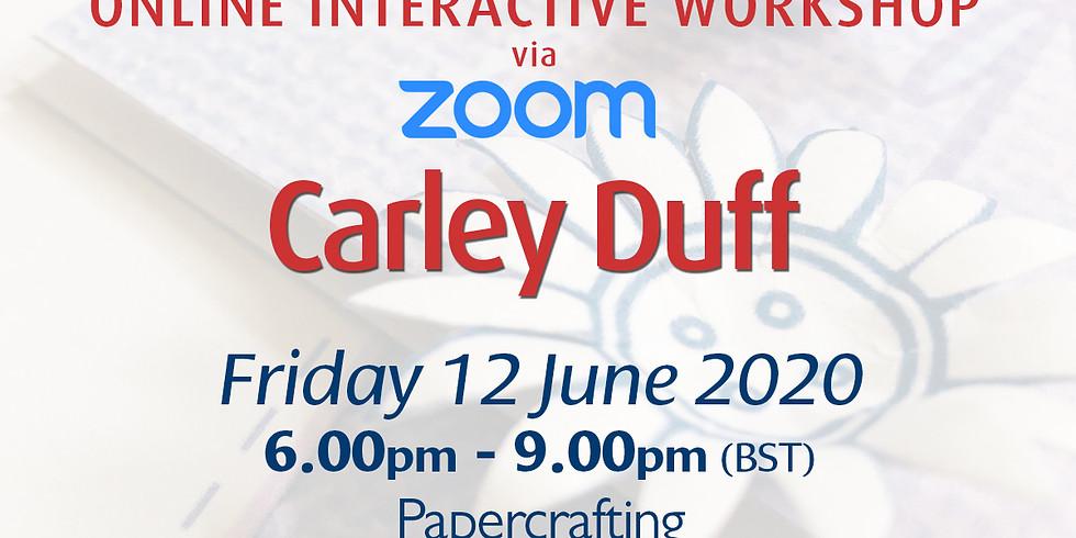 Friday 12 June 2020: Online Workshop (Papercrafting)