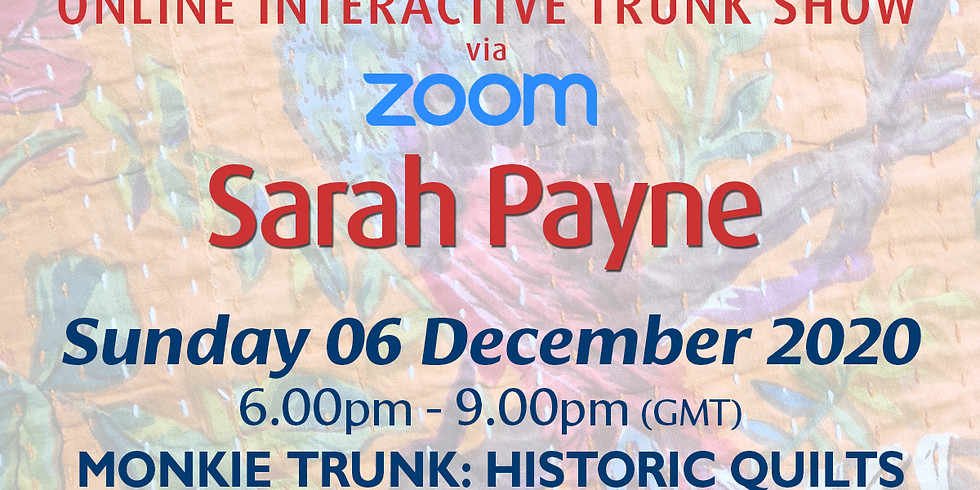 Sunday 06 December 2020: Online Monkie Trunk!