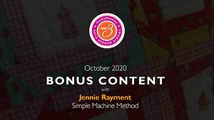 CraftyMonkies Take 3 Private Member Club Online Videos Subscription Bonus Content Jennie Rayment Simple Sewing-Machine Method