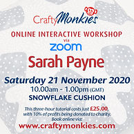 CraftyMonkies Sarah Payne Sewing & Quilting Festive Rudolph Advent Calendar Online Interactive Zoom Workshops Courses Classes