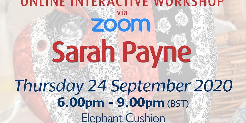 Thursday 24 September 2020: Online Workshop (Scrappy Elephant Fun Cushion)