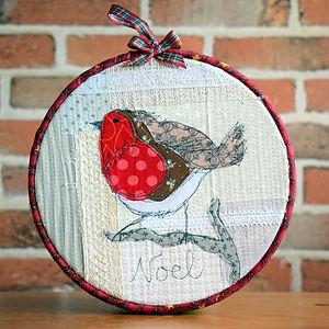 CraftyMonkies Judith Hollis Online Interactive Workshop Robin Embroidery Hoop Crafting Class