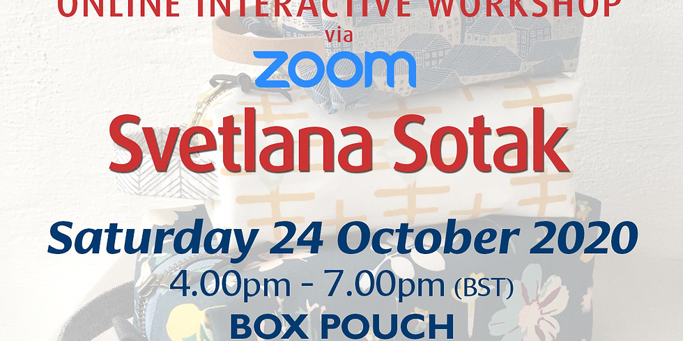Saturday 24 October 2020: Online Workshop (Boxy Tool Pouch)