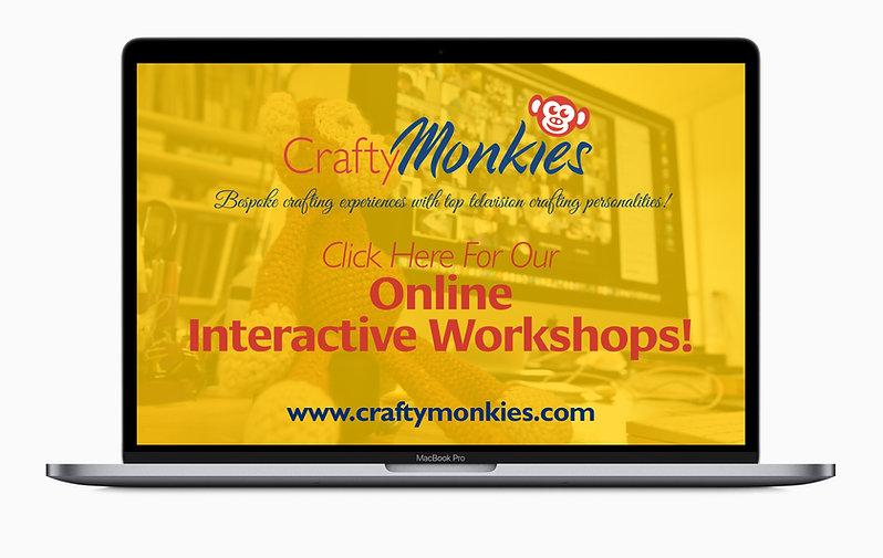 CraftyMonkies Online Interactive Workshops with Expert Craft Tutors!