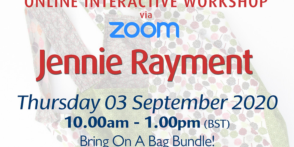 Thursday 03 September 2020: Online Workshop (Bring On A Bag Bundle)
