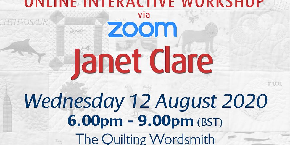 Wednesday 12 August 2020: Online Workshop (Memory Quilt)