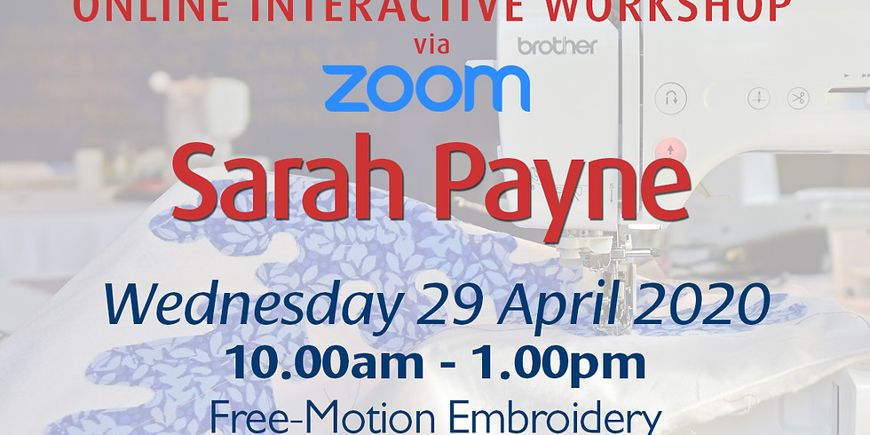 Wednesday 29 April 2020: Online Tutorial (Free-Motion)