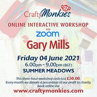CraftyMonkies Gary Mills Online Interactive Workshop Free Motion Stitch & Mixed Media